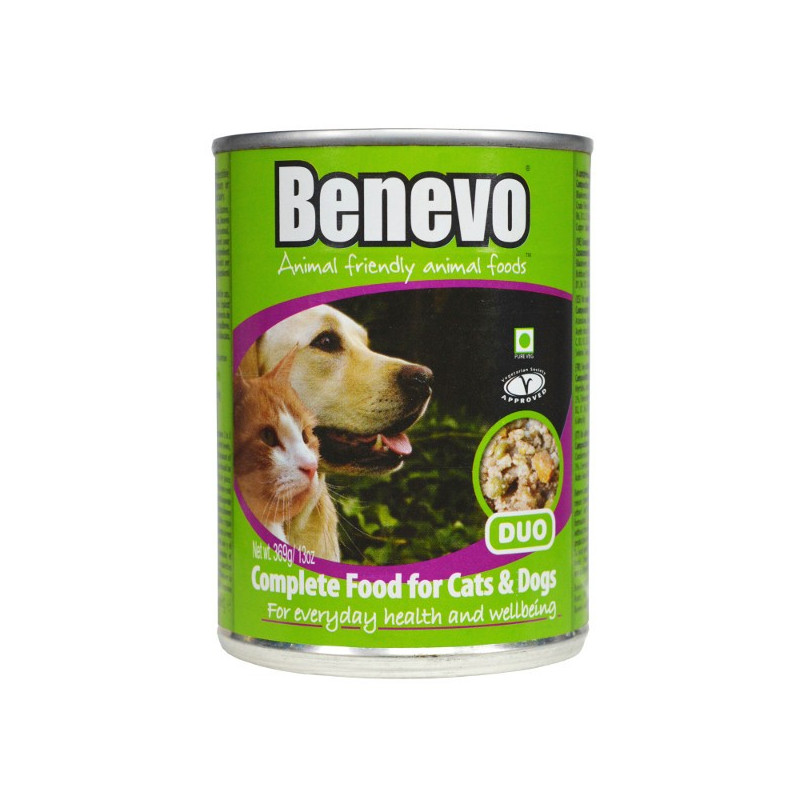 Benevo Duo Complete Vegan Wet Dog Cat Food 369g 12 Pack