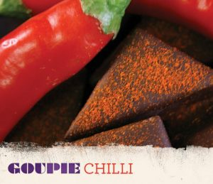 goupie vegan chocolates chilli