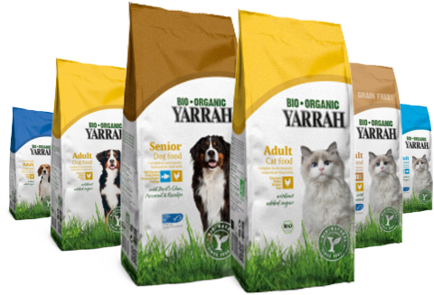 Yarrah organic dog and cat food