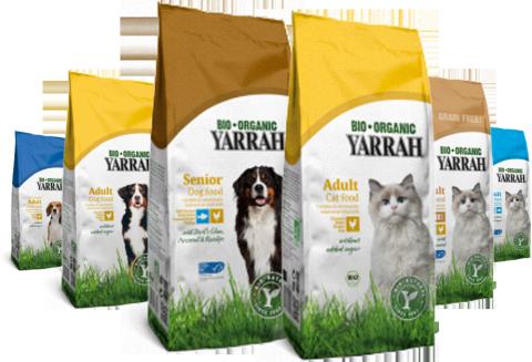 Yarrah organic dog and cat food
