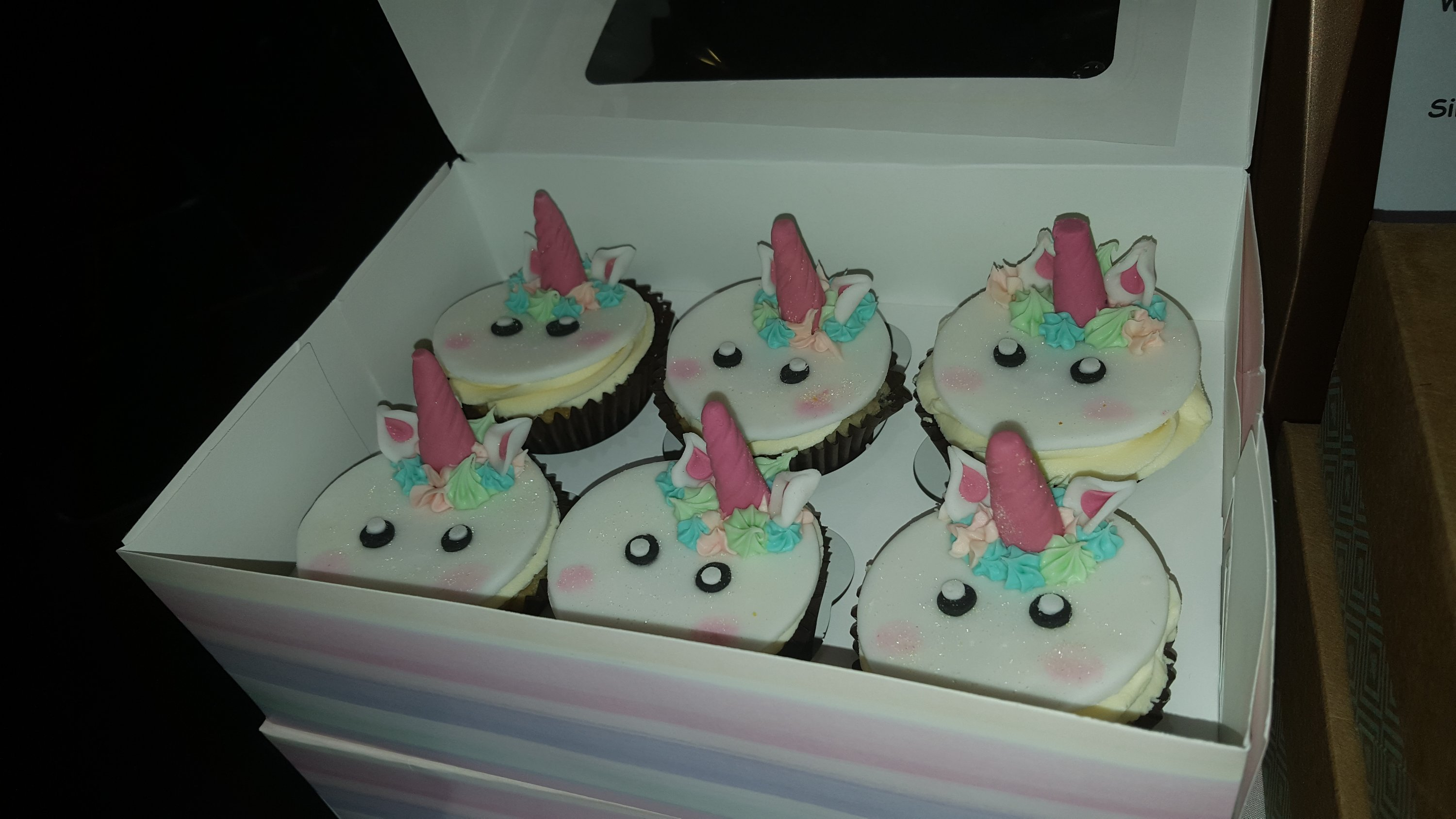 Vegan cupcakes with unicorn twist.